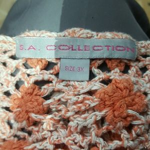 S.A. Collection Tops - Vintage S.A. Collection crochet shirt